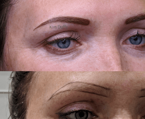 Permanent Powder Brow before and after photo