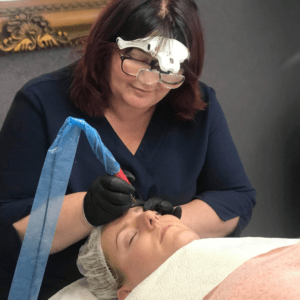Permanent Makeup Eyebrow Tattooing Photo
